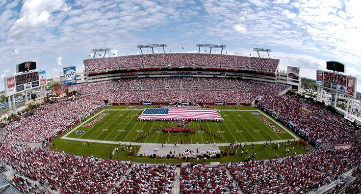 Raymond James Stadium, home of the NFL's Tampa Bay Buccaneers    www.TampaBayRentalSolutions.com