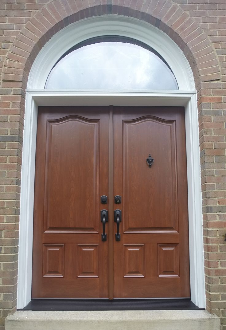 Provia Signet Fiberglass french entry door system with custom half-round transom installed in McLean & 29 best Nova Exteriors Door Projects images on Pinterest | Nova ...