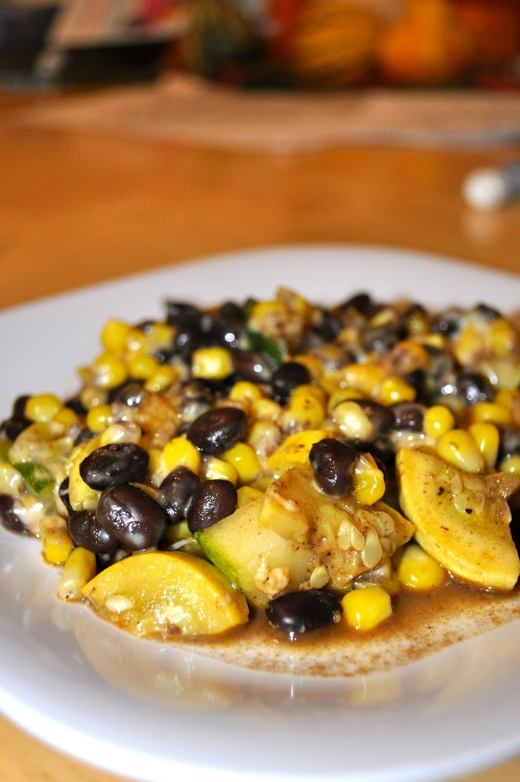 Summer Squash Mexican Casserole. Low carb, gluten-free, and vegetarian (and it tastes yum)!