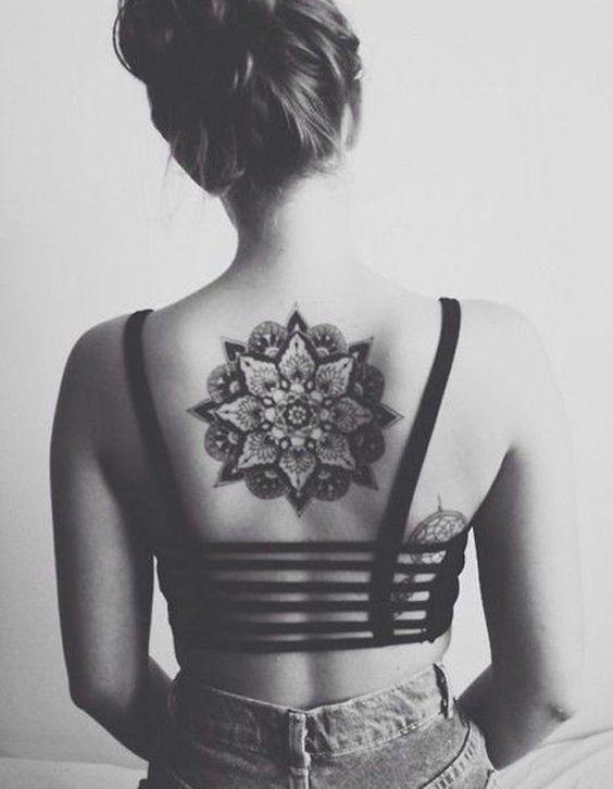 Mandala Back Tattoo for Girl - 40 Intricate Mandala Tattoo Designs <3 <3