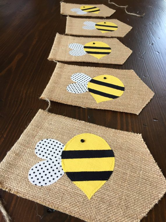 Bumblebee Bunting//Bumblee Banner//Bumblebee Birthday Décor//Bumblebee Baby Shower//Bumblebee Nursery Décor//asher + blaine. Easy to make own.