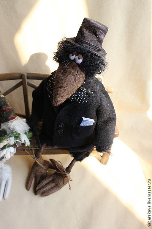 Купить Со свиданьицем - Хаберская, ручная работа, hand made, ворона, ворон…