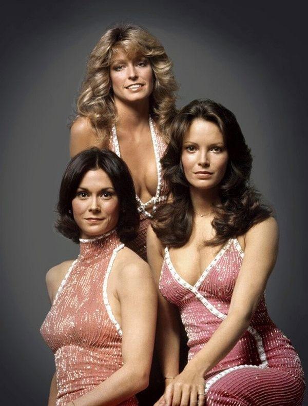Kate Jackson (1976-79), Farrah Fawcett (1976-77) Jaclyn Smith (1976-81) in Charlie's Angels (1976-81, ABC)