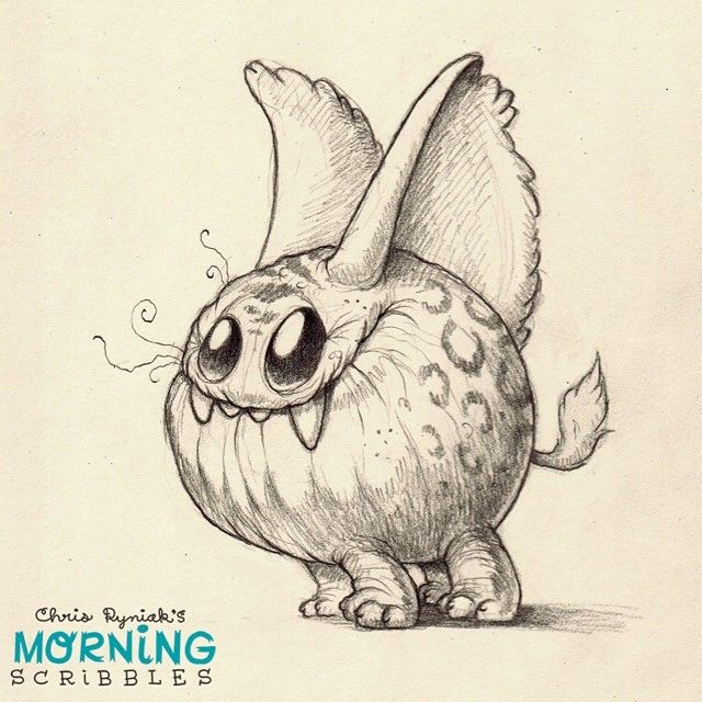 With a highly developed sense of hearing, it can hear the sound of cake from up to 5 kilometers away…  #morningscribbles