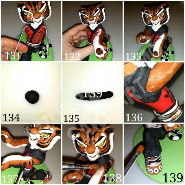 """Master Tigress"" tutorial (Kung Fu Panda) #7: Last details. .. - CakesDecor"