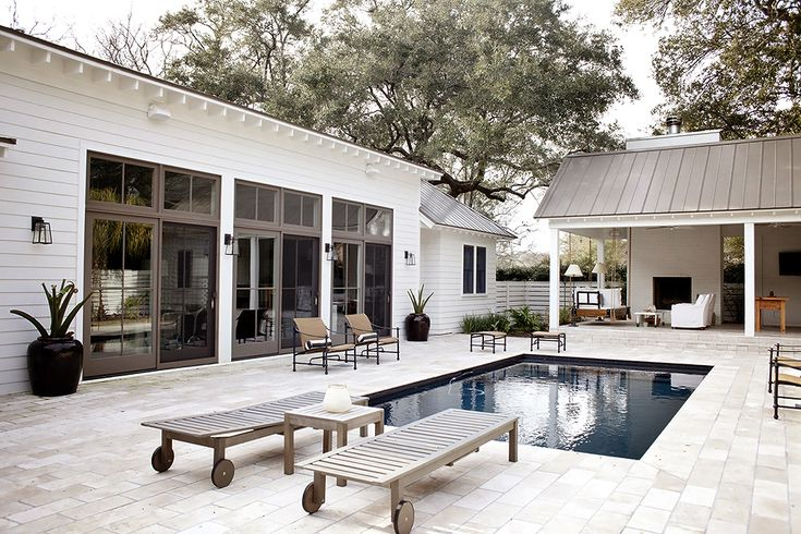 greige: interior design ideas and inspiration for the transitional home : pool side... simply