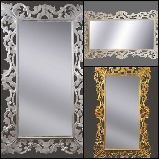 Specchi da parete specchio ornamentale 3 colori specchiera for Specchio da parete argento