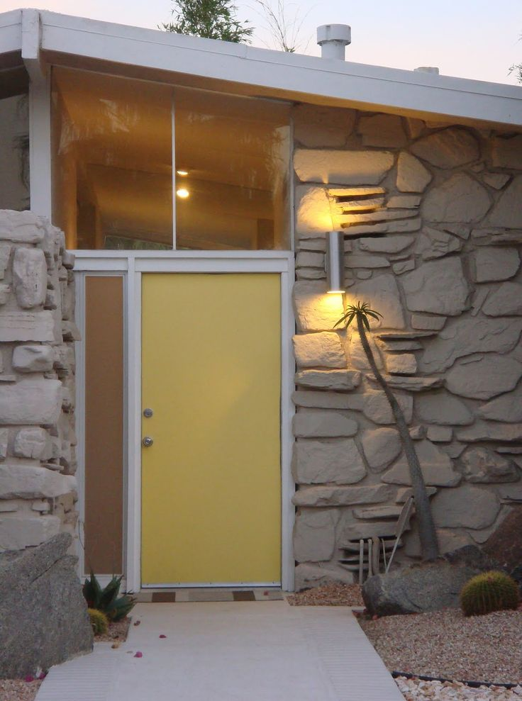 Mid Century Modern Foyer Light : Beautiful mid century entryway in palm springs