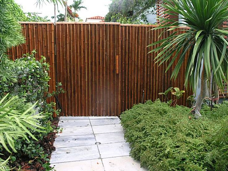 7 best images about great privacy fences on pinterest for Outdoor bamboo privacy screen