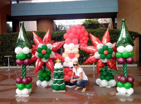 Navidad decoracion con globos pinterest seasons - Decoracion de navidad con globos ...