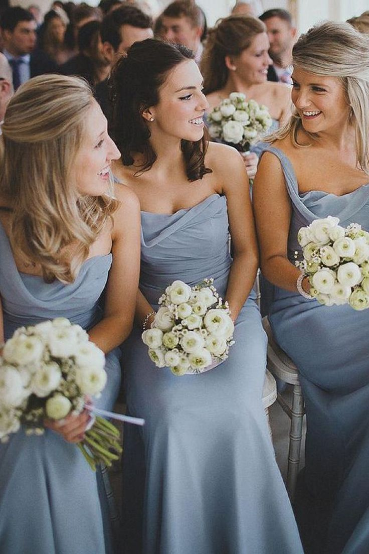 Sparkling One Shoulder Sheath/Column Chiffon Floor-length Bridesmaid Dresses - Midi Bridesmaid Dresses - Bridesmaid Dresses - Wedding Party Dresses - Dresshop.com.au