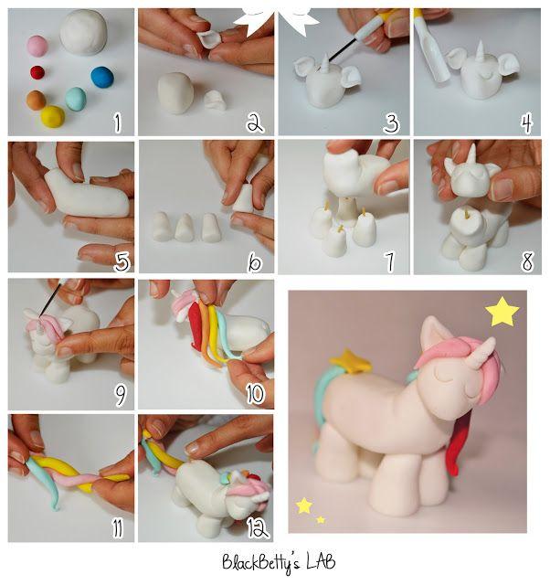 Unicorn Cake Topper - Tutorial. BlackBetty'sLab: tutorial unicorno