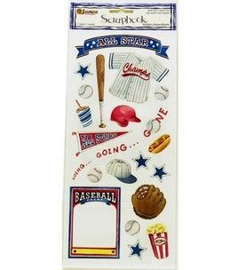 Scrapbook fun...Play ball :)