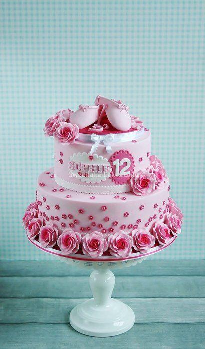 Super sweet ballet cake - by Tamataartje @ CakesDecor.com - cake decorating website