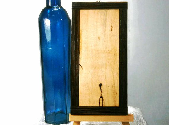 Minimalist Framed Art / Up-cycled Wood / Reclaimed by Eklektibles