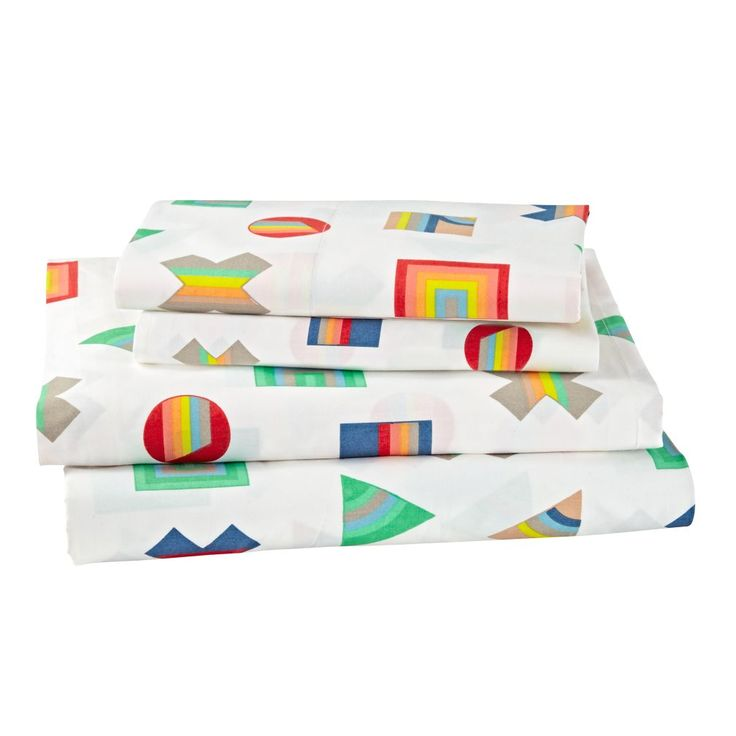 Shop Prism Pattern Sheet Set.  Put our Prism Pattern Sheets on any bed in your home, and things will immediately start shaping up.  That's because it features a multitude of colorful shapes printed on super comfy 100% printed cotton percale.