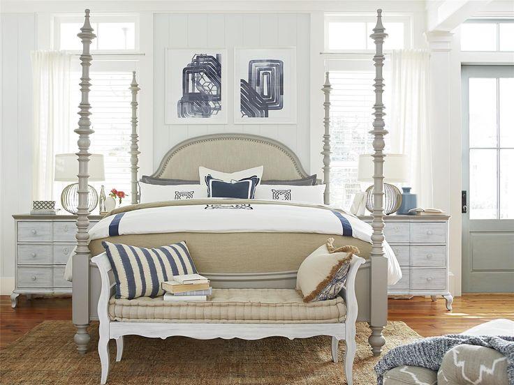 Paula Deen Dogwood Queen Poster Bed - Cobblestone Finish