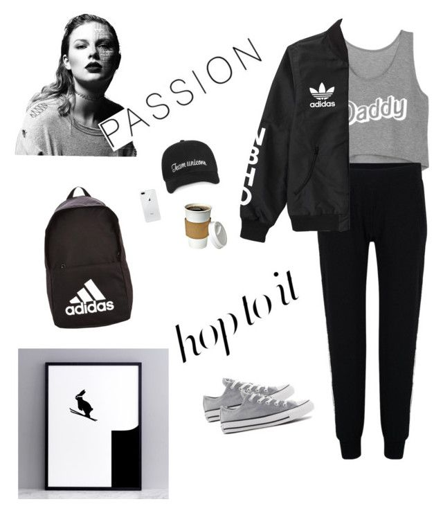 """greyscale"" by saraisyi on Polyvore featuring Issa, KamaliKulture, adidas, Converse and HAM"