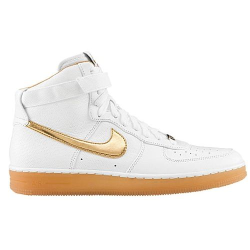 white and gold nike air force - for men. duh.