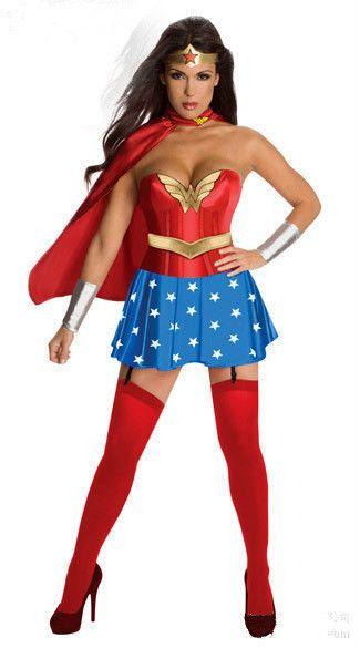 Sexy Woman Captain America Cosplay Lingerie Costume superwoman Halloween Cosplay