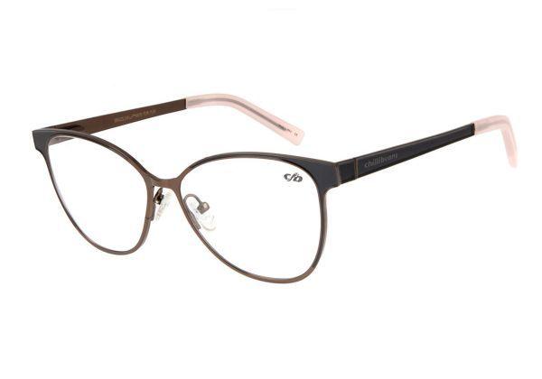 Armacao Para Oculos De Grau Chilli Beans Feminino Metal Marr