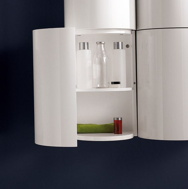 #storage integrated item available in different materials and #colors. Detail.Tambo collection by Inbani.  #bathroom #furniture
