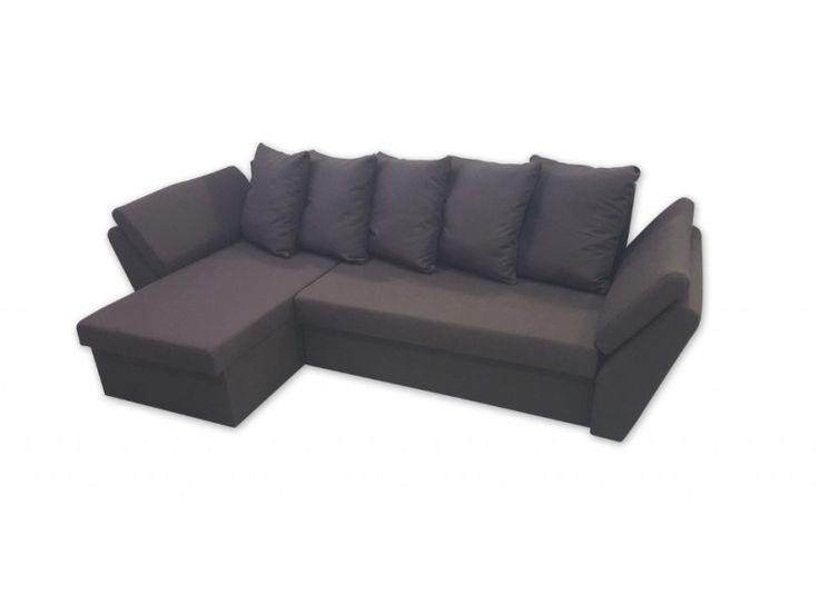 Γωνιακός καναπές κρεβάτι με αποθηκευτικό χώρο 260X145εκ. NOA Καφέ Ύφασμα