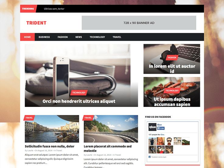 Trident Lite — Free WordPress Themes