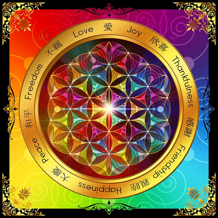 """""""The Flower of Life"""" Mandala ~ by Lilyas on deviantArt"""