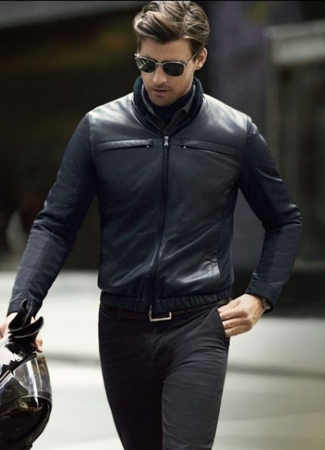 are mens leather bomber jackets in style