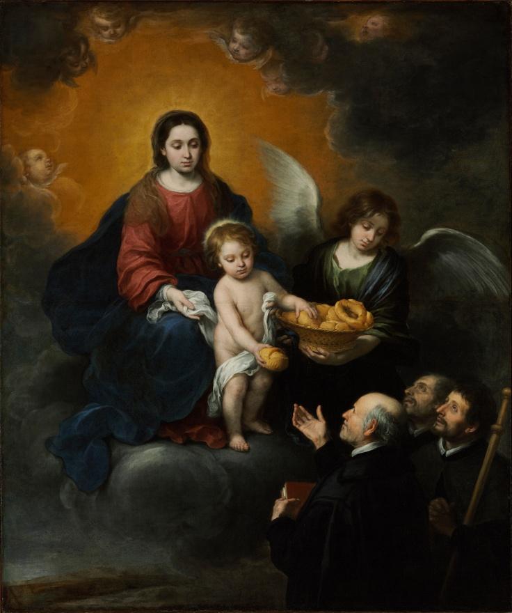 Jesús Niño repartiendo pan a los sacerdotes, Bartolomé Esteban Murillo, 1678 - 1679, Budapest. Museo de Bellas Artes. Szépmüvészeti Múzeum