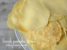 Finnish Pancake Recipe