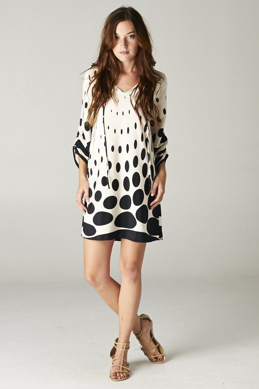 Love this Polka Dot Dress! Pair this with some tights and boots, and it's perfect for winter! #style #winter