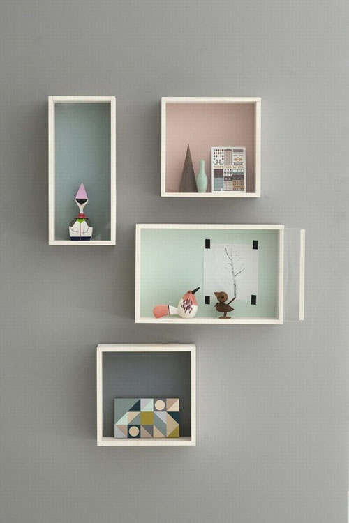 good way to display - pastel shadow boxes
