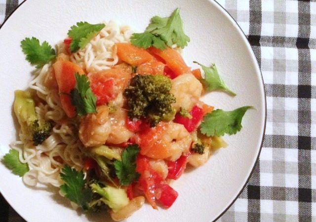 Thaise wok garnalen - Francesca Kookt