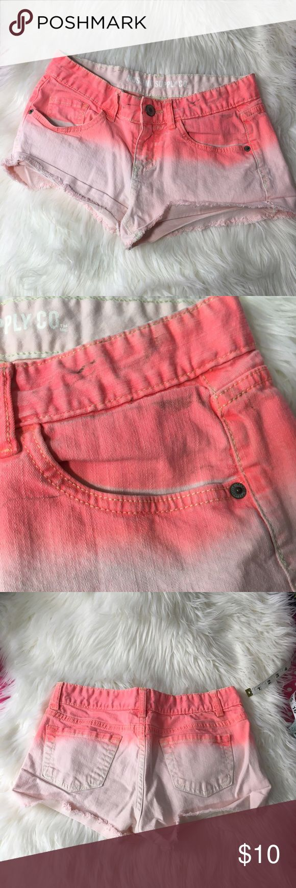 Beautiful Orange Ombre Shorts Size 7 Small marks pictured above, otherwise great condition price is firm -I do not accept offers in the comments so please make all reasonable offers using the offer button only. :)  -NO TRADES  -NO HOLDS 🚫 -I ship every Tuesday and Thursday  Your purchase is going to help me graduate community college with as little debt as possible. Thank you! Mossimo Supply Co Shorts Jean Shorts