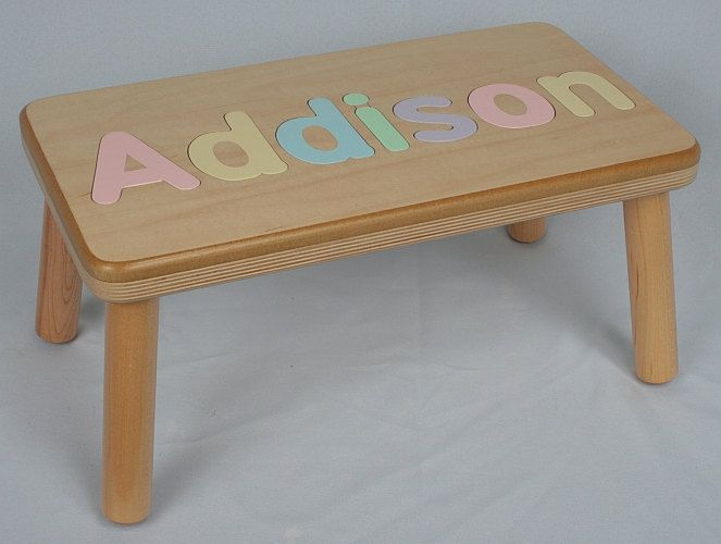 Wooden step stool for kids personalized woodworking