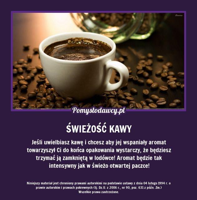 Jeśli uwielbiasz kawę i chcesz aby jej wspaniały aromat towarzyszył Ci do końca opakowania wystarczy, że będziesz trzymać ją zamkniętą w lodówce! Aromat będzie tak intensywny jak w świeżo otwartej paczce!