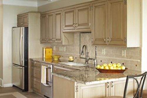 Kitchen cabinets brushstrokes by mary anne chalk paint for Chalk paint kitchen cabinets