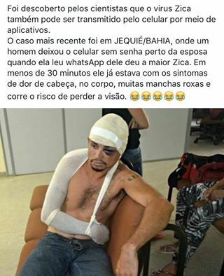Imagem e Frases Facebook: Zica virus no Zap-zap