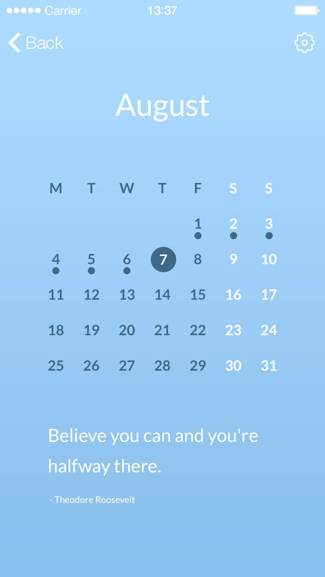 Simple and easy to read. Nice calendar pattern.