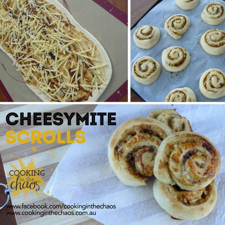 Cheesymite Scrolls - Thermomix Recipe