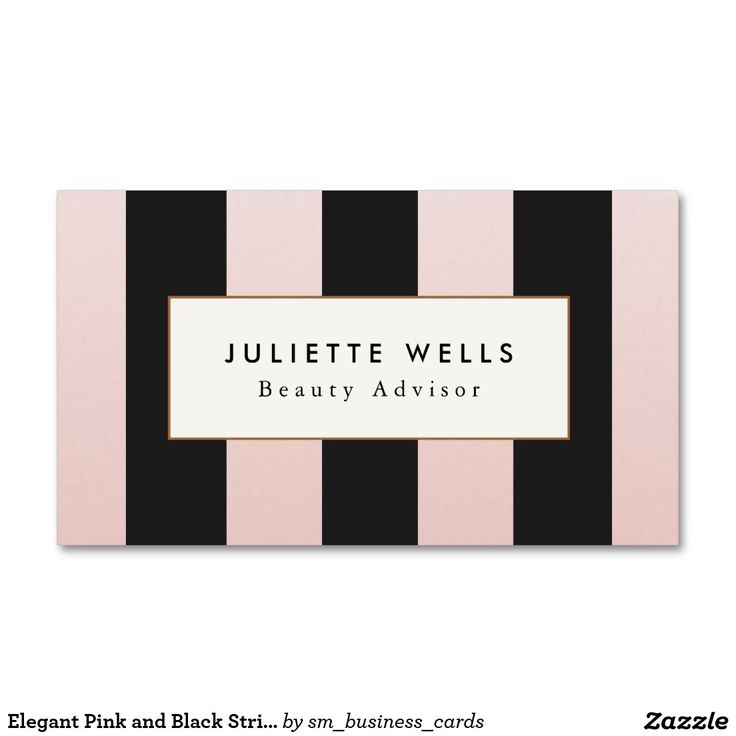 182 best makeup artist business cards images on pinterest make up elegant pink and black striped beauty salon business card reheart Images