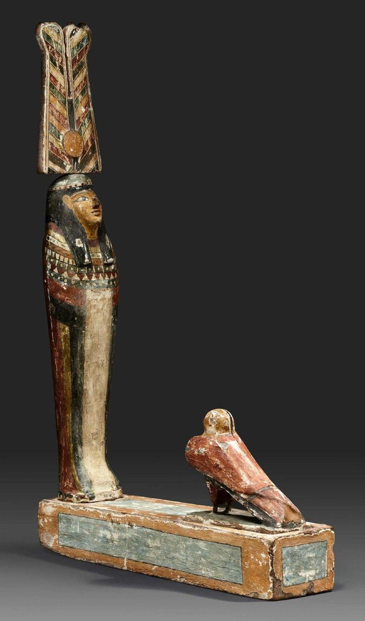Egyptian wood Ptah-Sokar-Osiris. Late Period - Ptolemaic ...