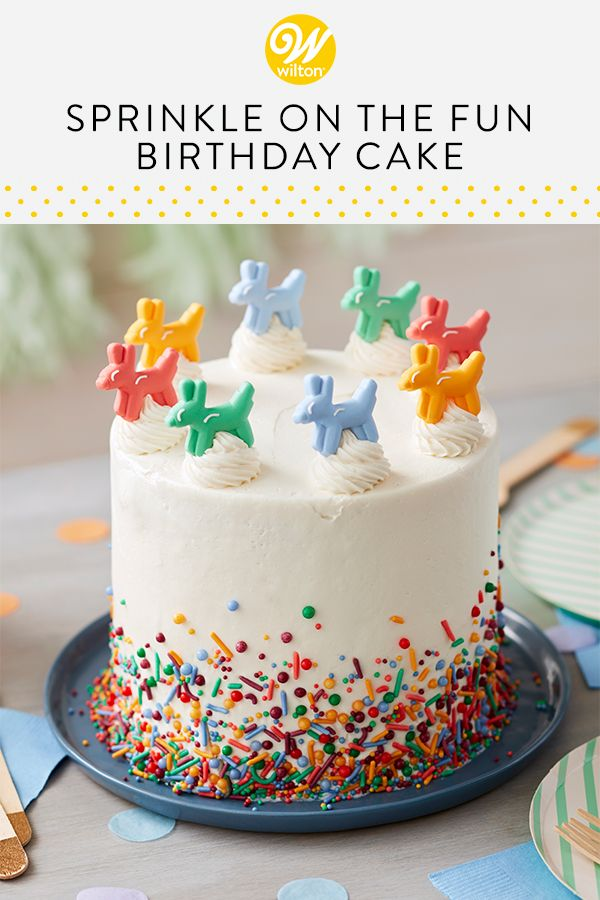 Strange Topped With Cute Edible Balloon Animal Decorations And Decorated Funny Birthday Cards Online Elaedamsfinfo