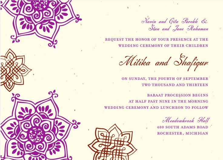 Indian Wedding Invitation Message: Best 25+ Indian Wedding Invitation Wording Ideas On