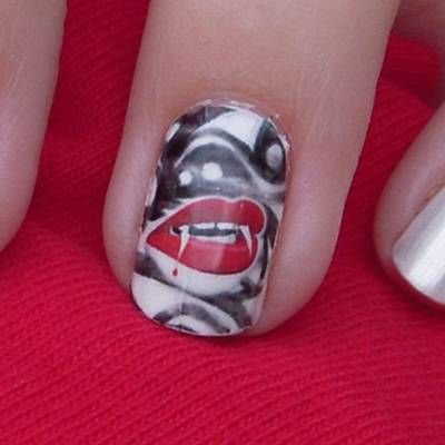 74 best mouthy manicures images on pinterest dental dental vampire teeth nail art belle chic prinsesfo Choice Image