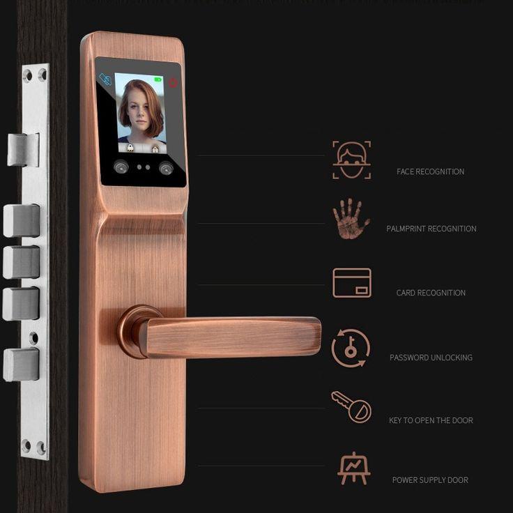 5 in 1 smart fingerprint door lock intelligent palmprint