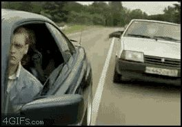 handling idiot driver's road rage LIKE A FUCKING BOSS [click to see GIF]