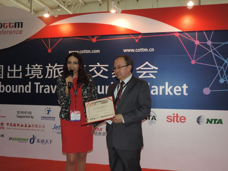 Congratulations to the Ministry of Tourism Ecuador for winning the golden CTW Award in Product Innovation! Here is Ms.María Cristina Rivadeneira with the ambassador of Ecuador Mr. José M. Borja L.